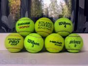 Продам теннисные мячи известных брендов б/у практически новые